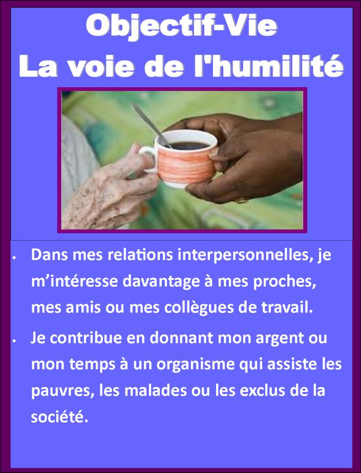 Objectif Vie Voie de l'humilité