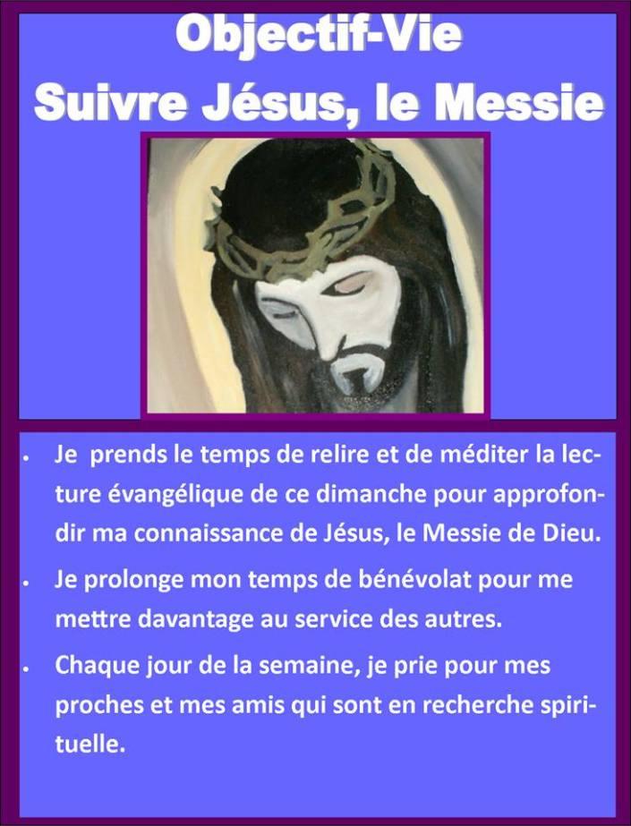 objective vie suivre Jésus