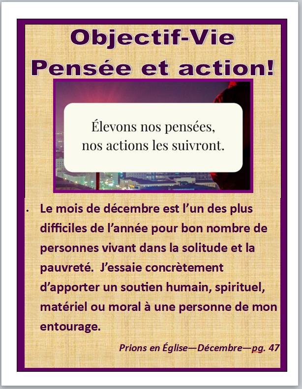 Objectif vie pensée et action1