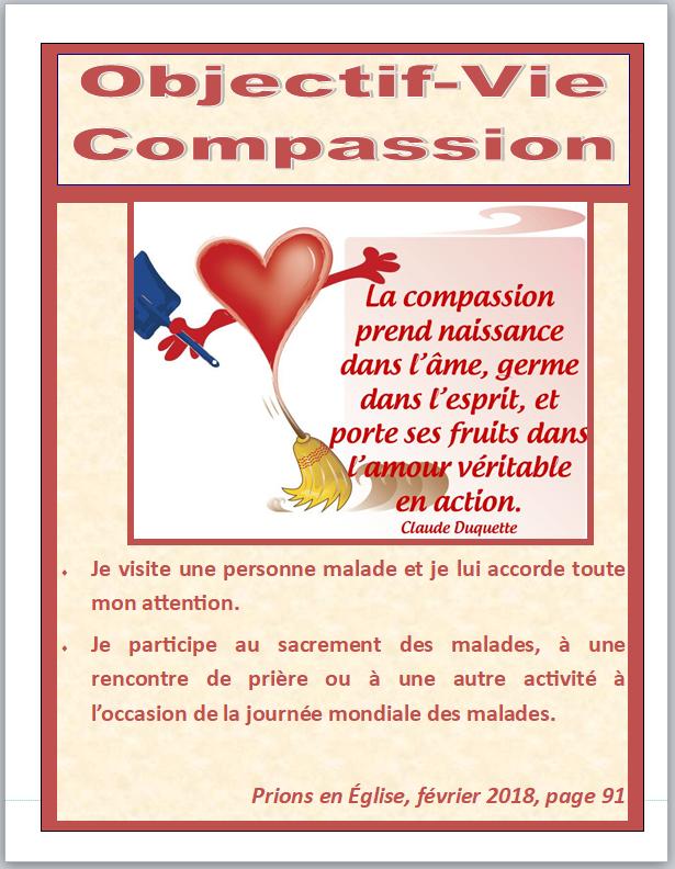 objectif vie compassion