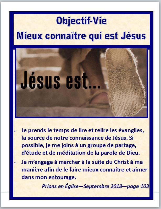 Objectif Vie Mieux connaître qui est Jésus